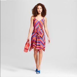 Target A New Day Striped Tie Waist Dress